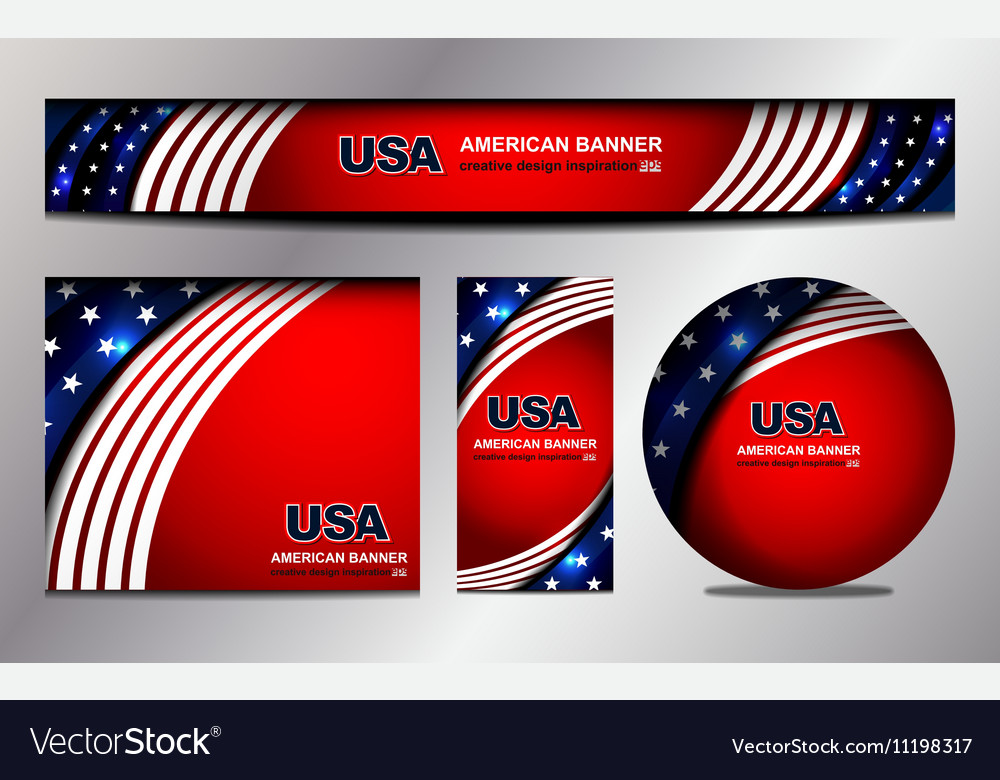 usa flag banner design royalty free vector image