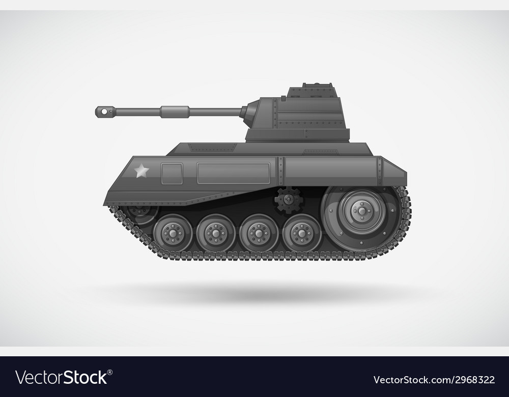 A military armoured tank vector image