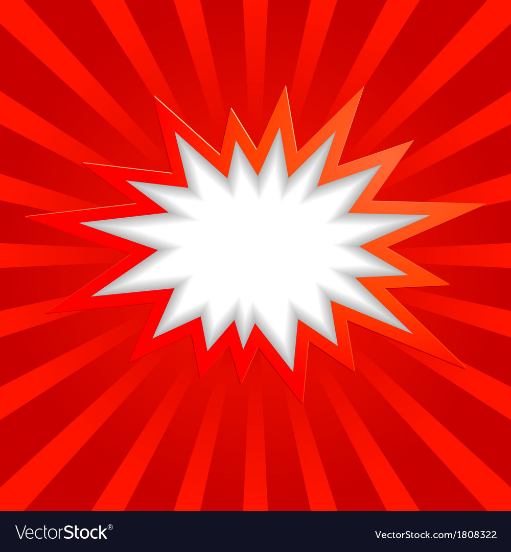 Bang background red vector image