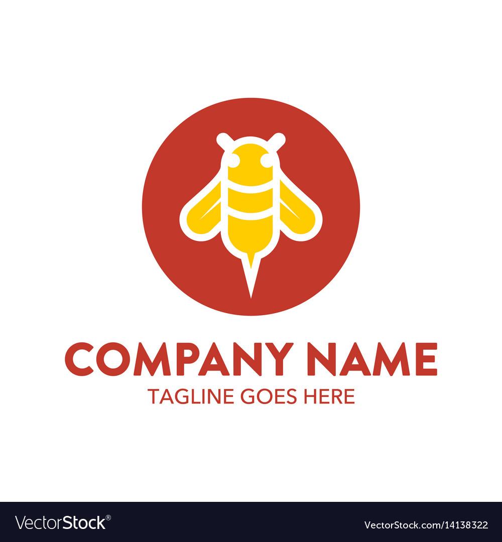 Bee logo-14 vector image