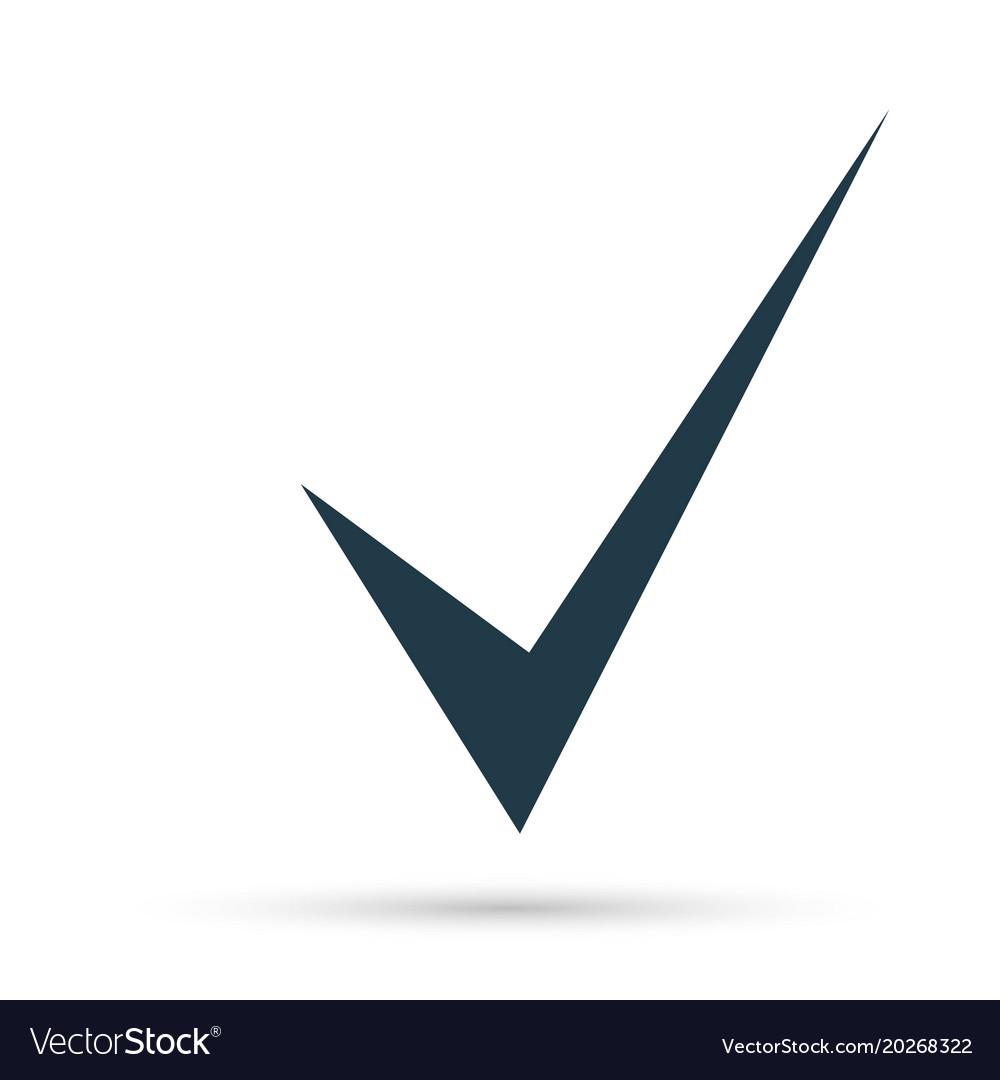 Black check mark icon tick symbol in black color Vector Image