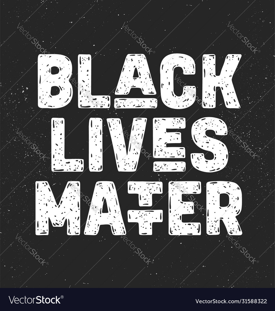 Black lives matter text message for protest