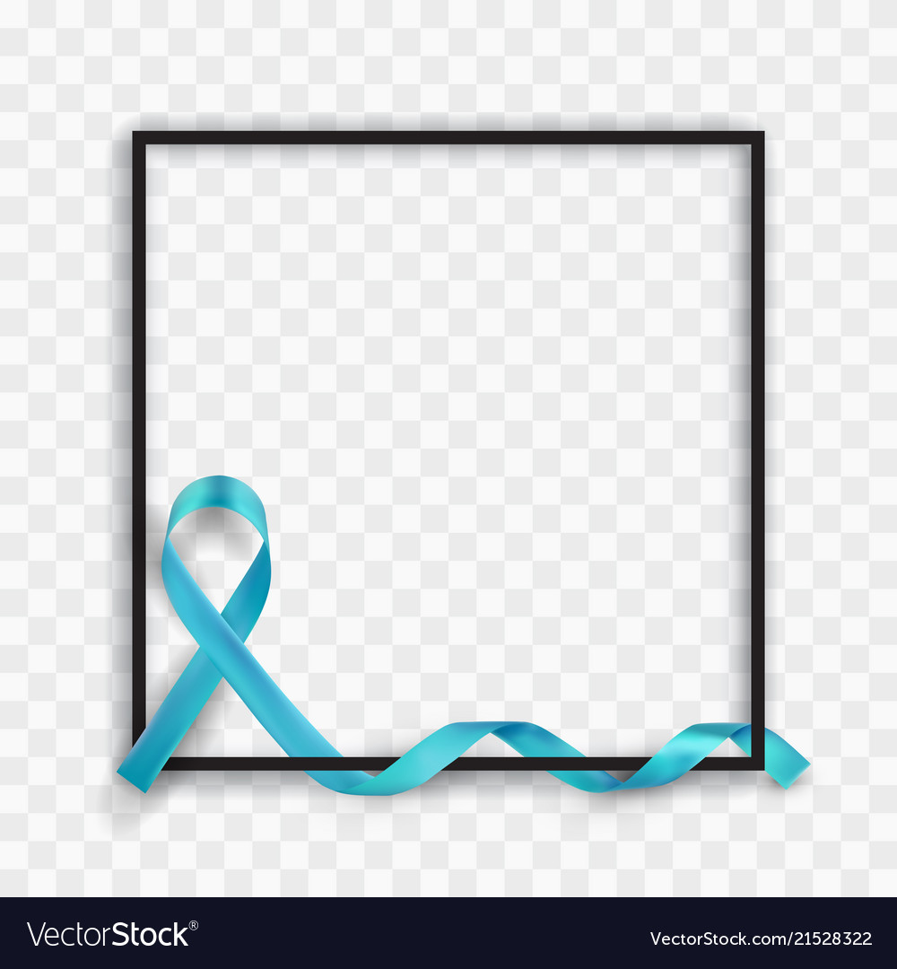 Blue prostate cancer awareness symbolic ribbon