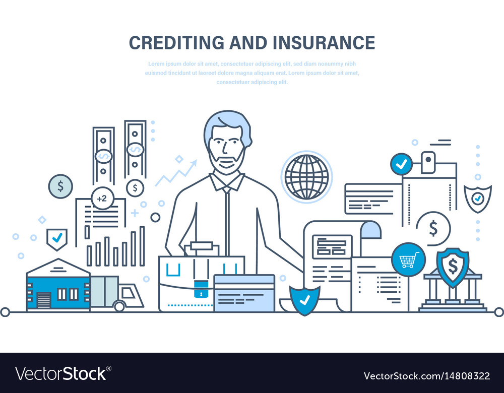 Crediting property insurance financial security vector image