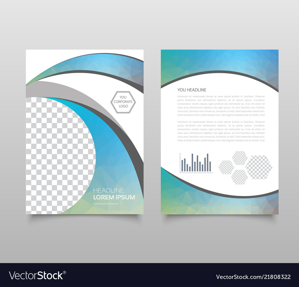 Modern Triangle Presentation Template Business Vector Image On Vectorstock