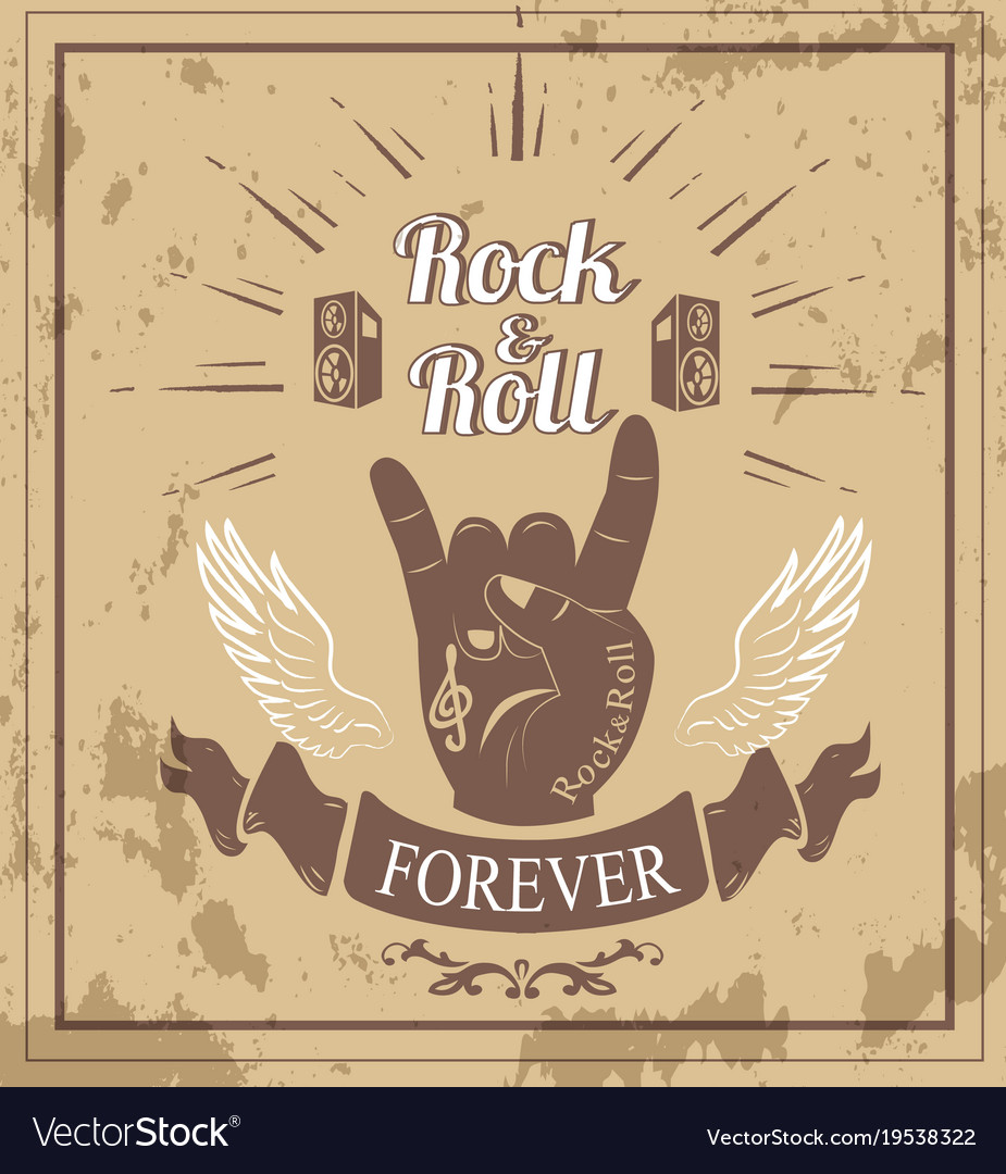 Rock n roll forever ribbon