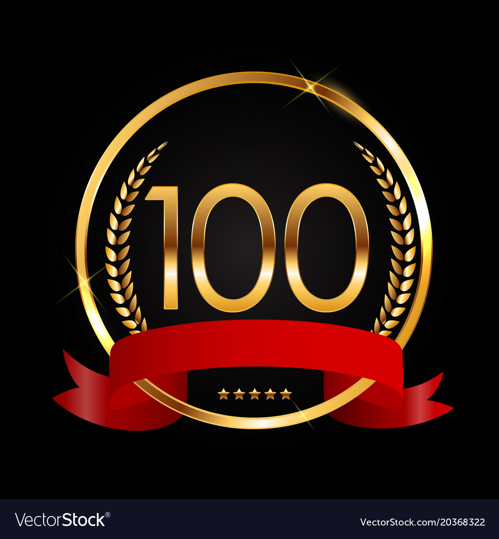 template logo 100 years anniversary royalty free vector