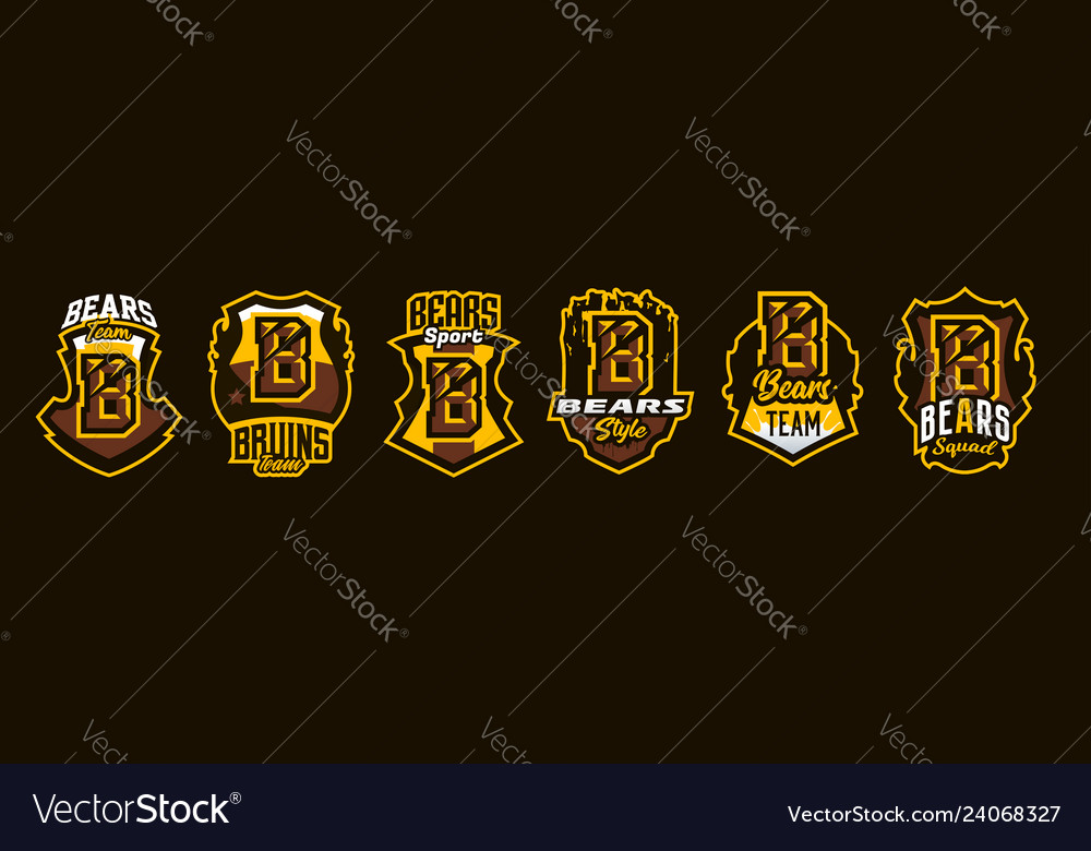 A set of colorful emblems badges stickers logos
