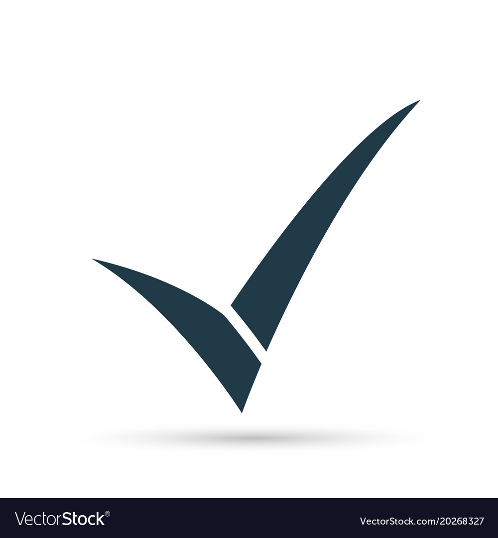 Black Check Mark Icon Tick Symbol In Black Color Vector Image