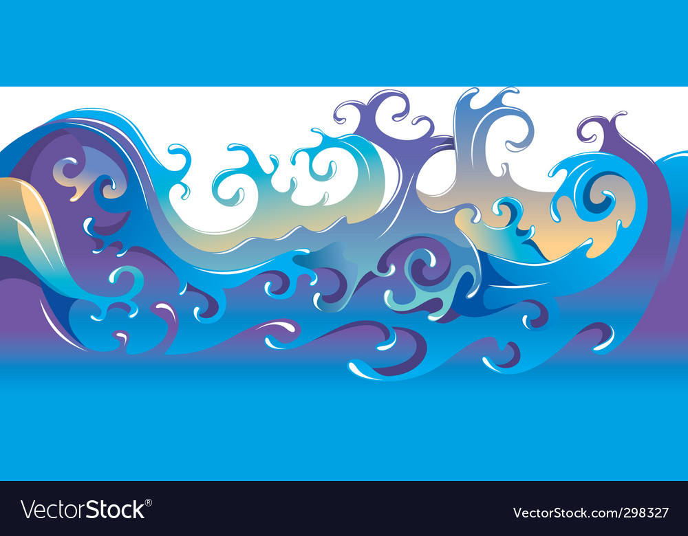 Cartoon waves background