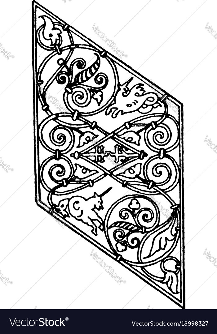 Grill panel is a german 16th century design