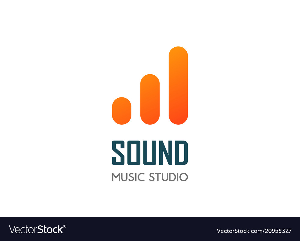 Modern logo template for audio and music