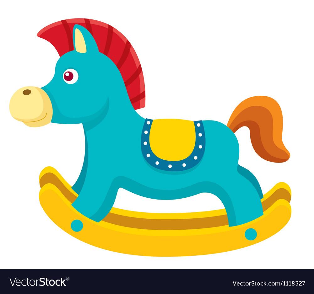 Rocking horse vector image
