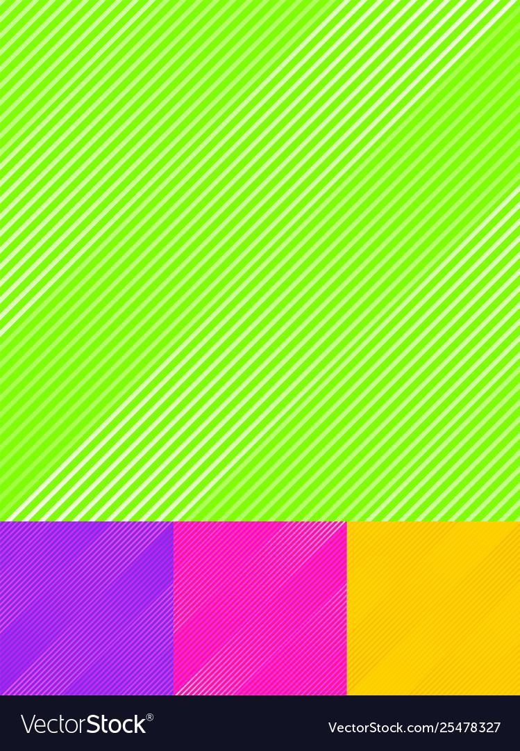 Set striped diagonal lines pattern colorful