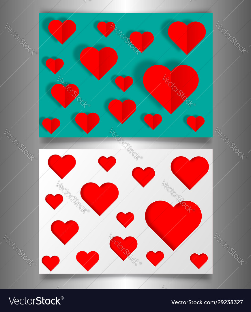 Set valentines day or mothers day vintage banners
