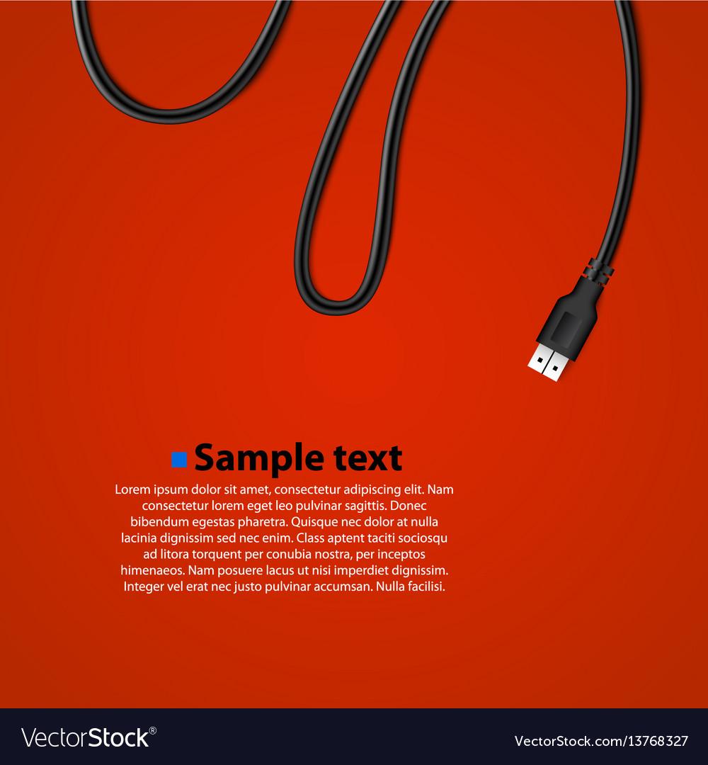 Usb cable plug isolated background