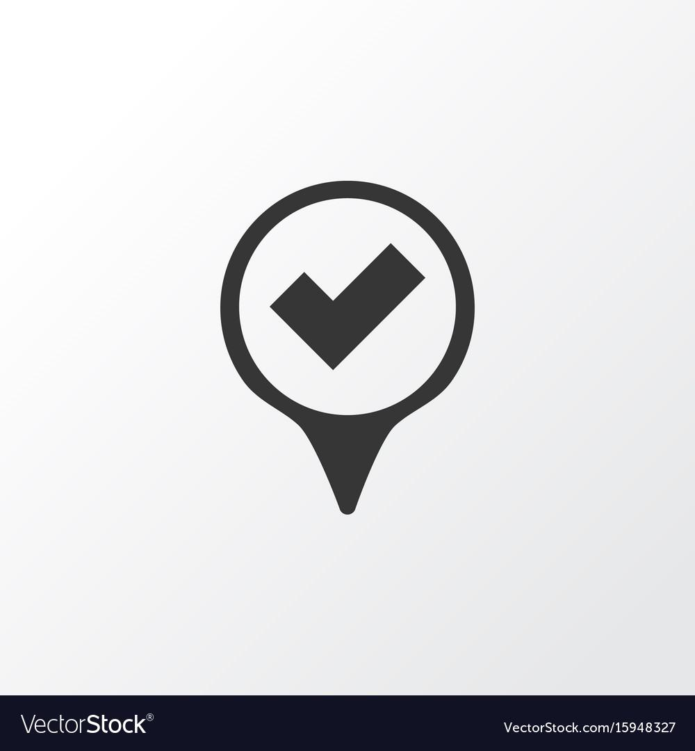 Yes mark icon symbol premium quality isolated