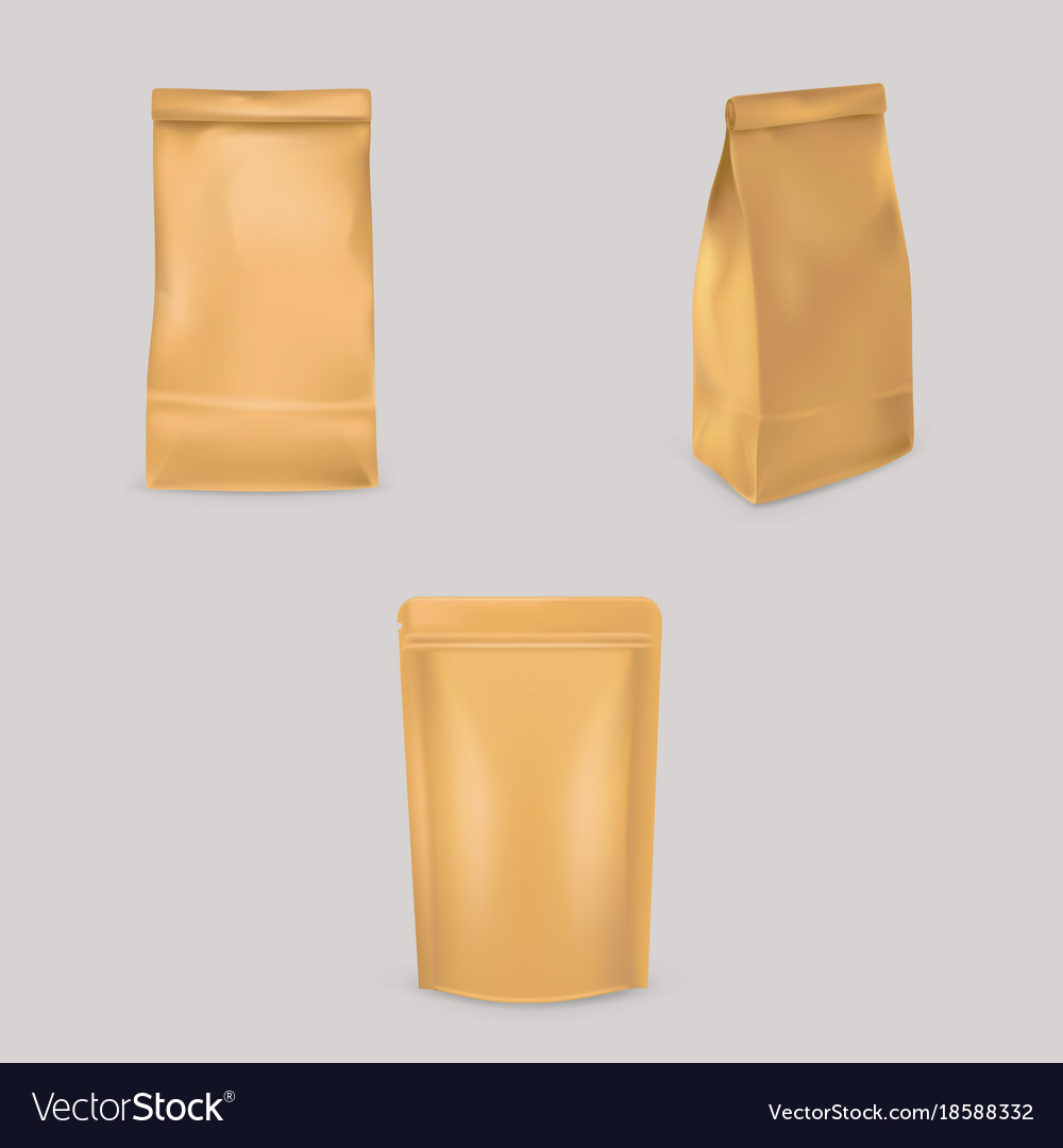 A set of of brown paper bags