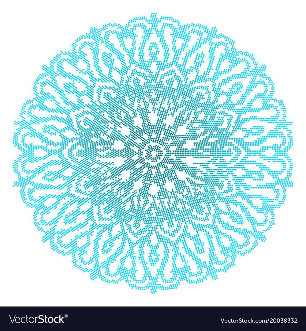 Blue mandala isolated on white background