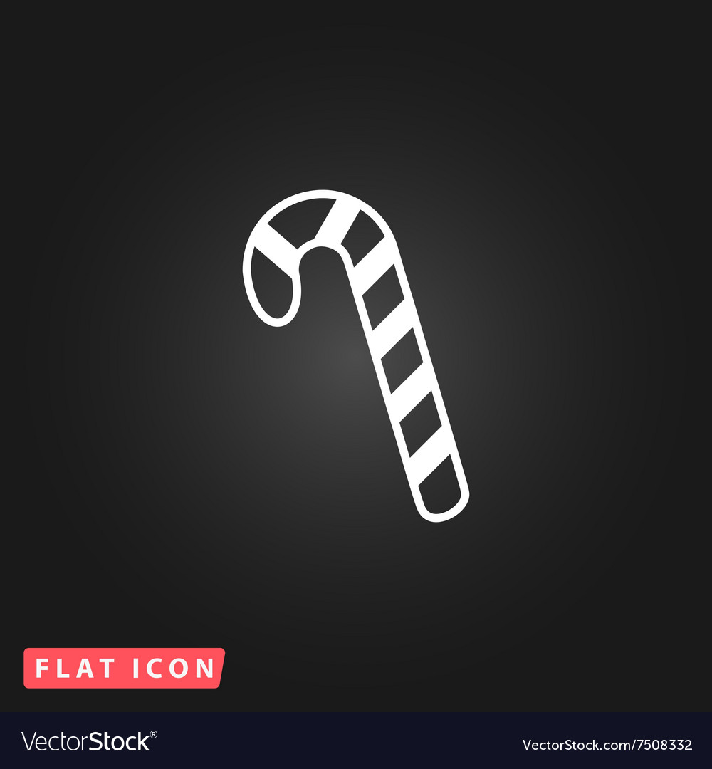 Candy cane flat icon