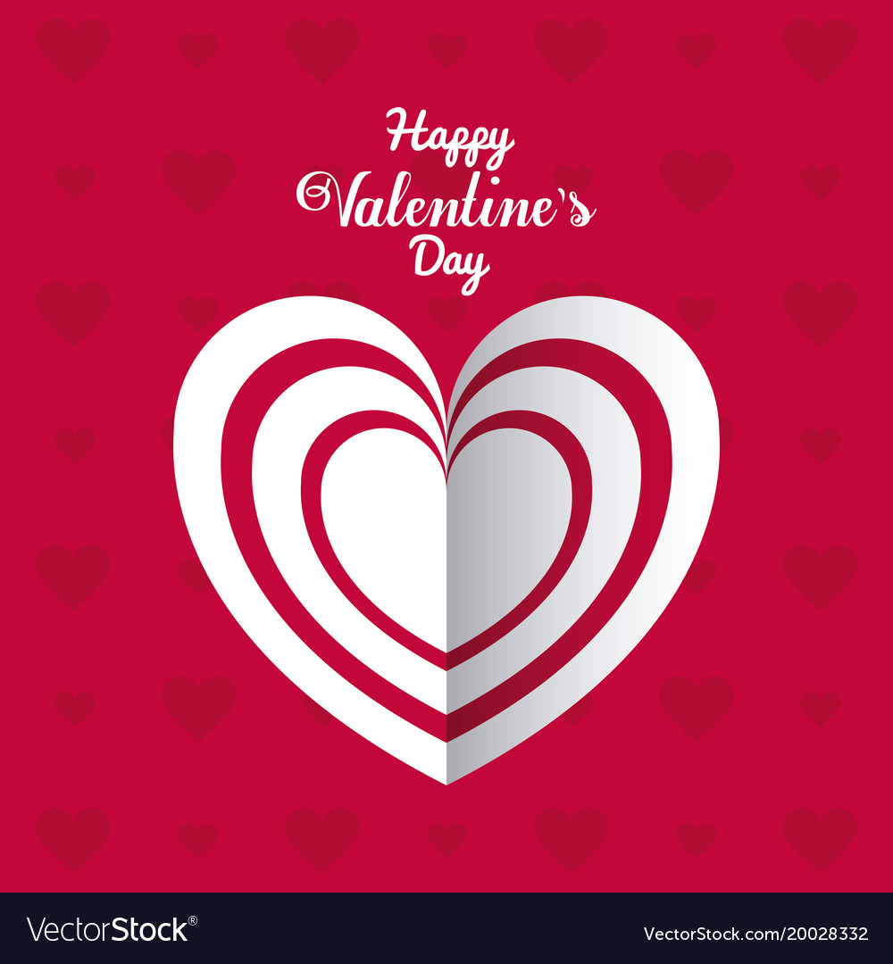 Happy Valentines Day Card Royalty Free Vector Image