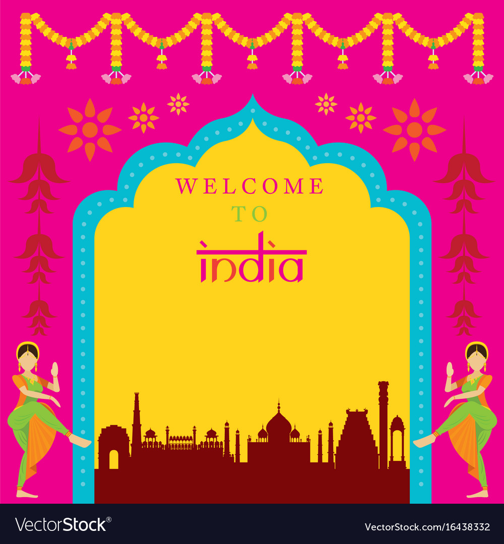 India travel attraction frame
