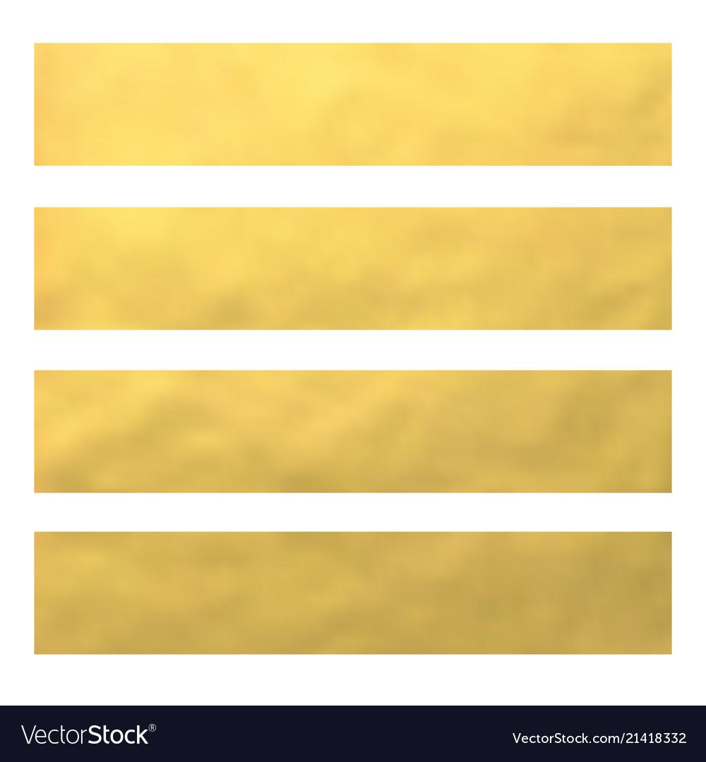 Set of golden foil bannerswebsite headers