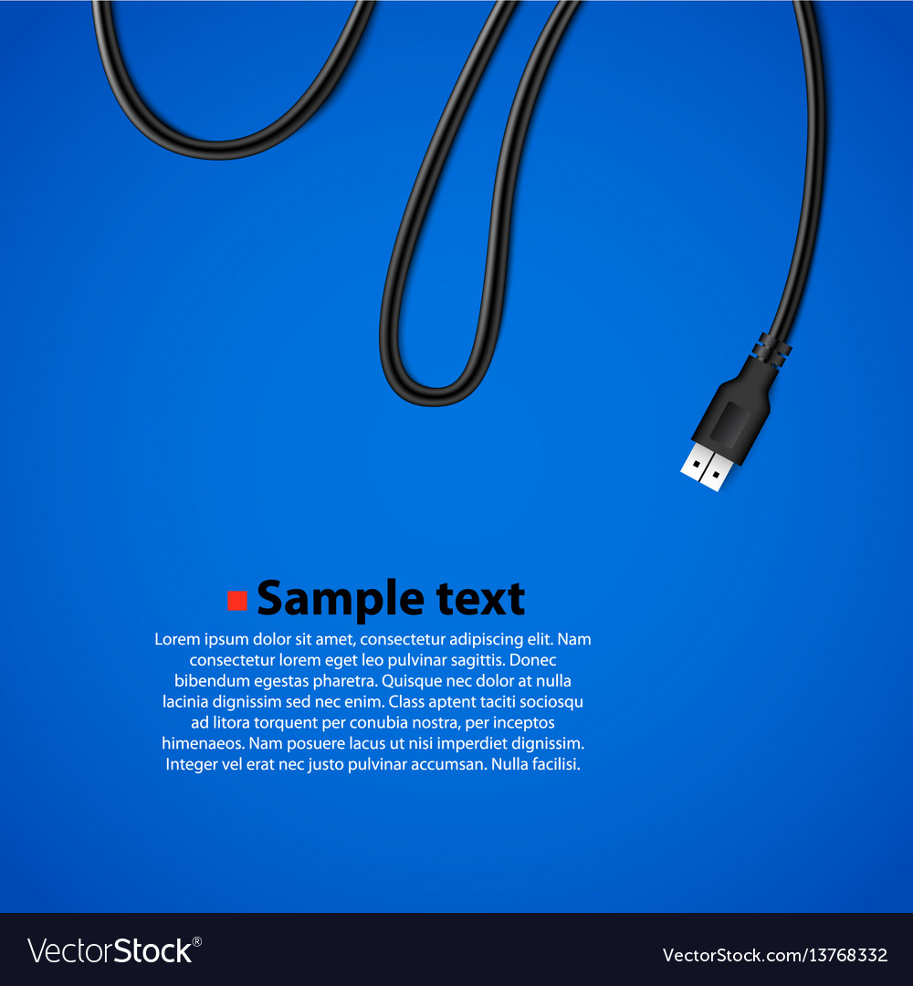 Usb cable plug isolated background
