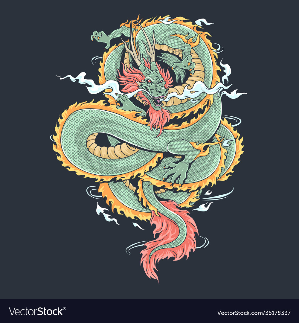 A dragon that looks fierce and cool