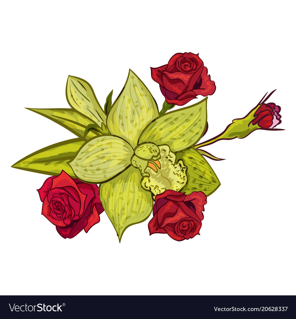 Bouquet of flowers royalty free vector image vectorstock bouquet of flowers vector image izmirmasajfo