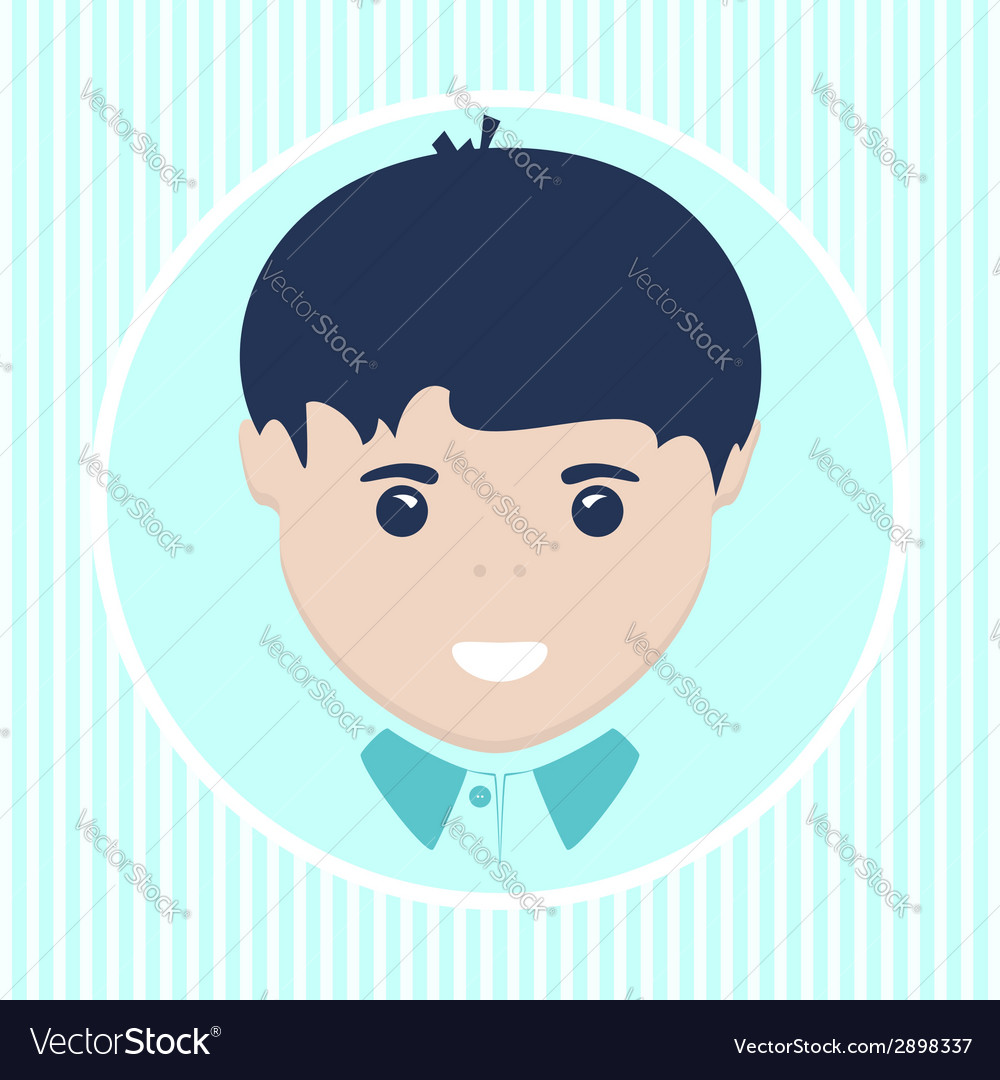 European boy vector image