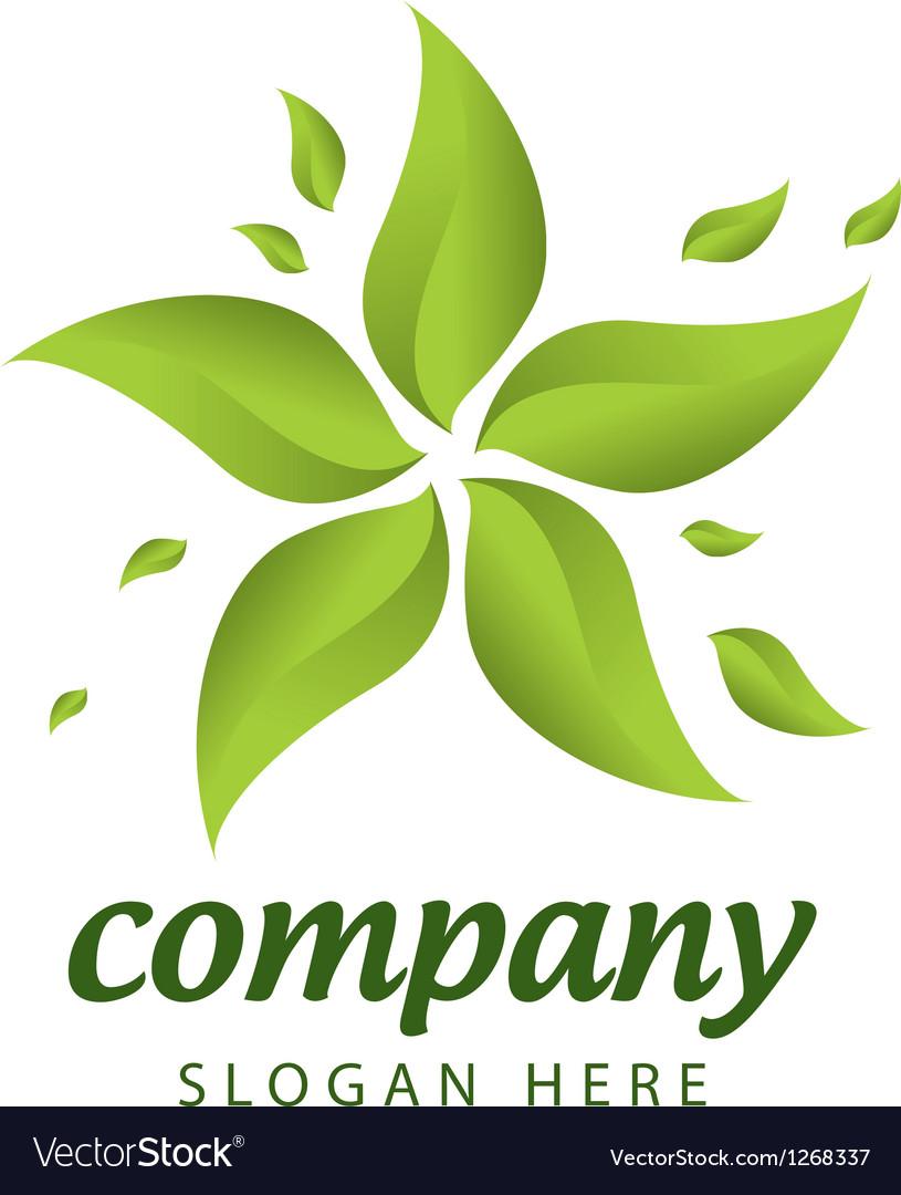 Forest management logo vector image