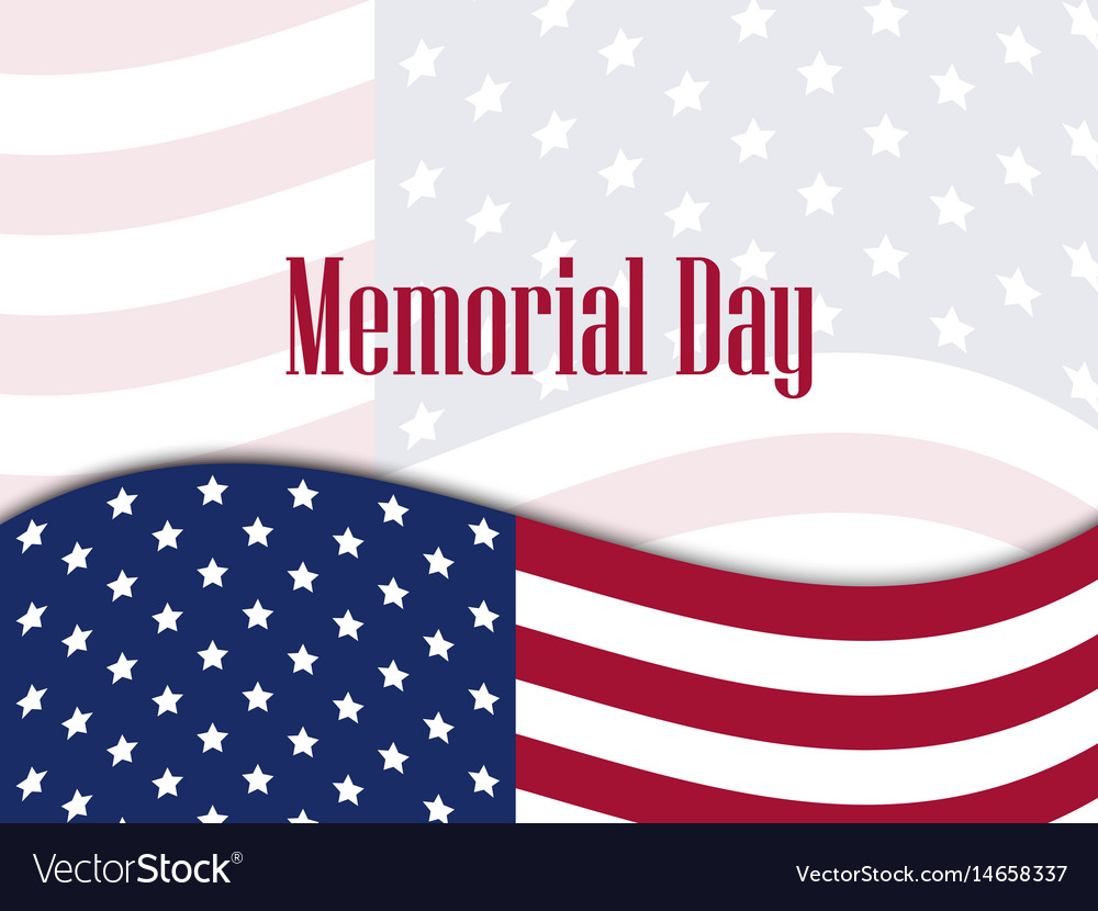 Memorial day national american holiday banner