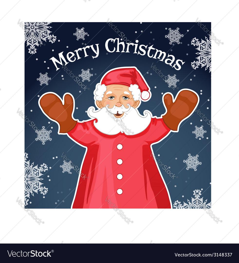 Santa Claus with Christmas greetings eps10 vector image