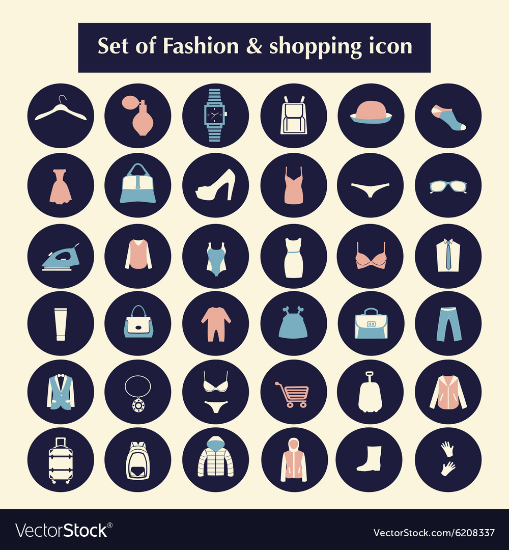 Shopping and Fashion related icons