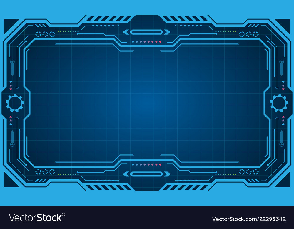 abstract futuristic presentation panel frame vector image vectorstock