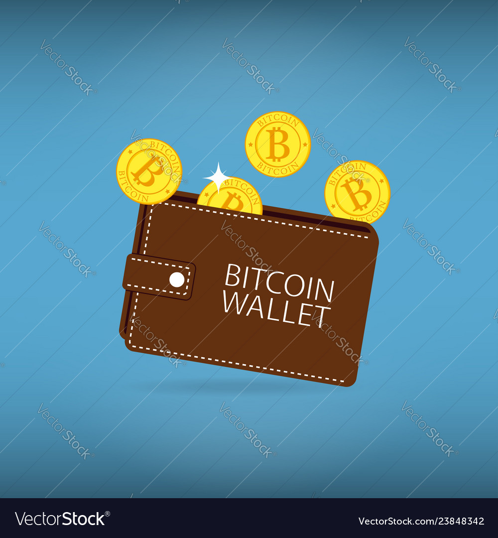 Bitcoin wallet with coins