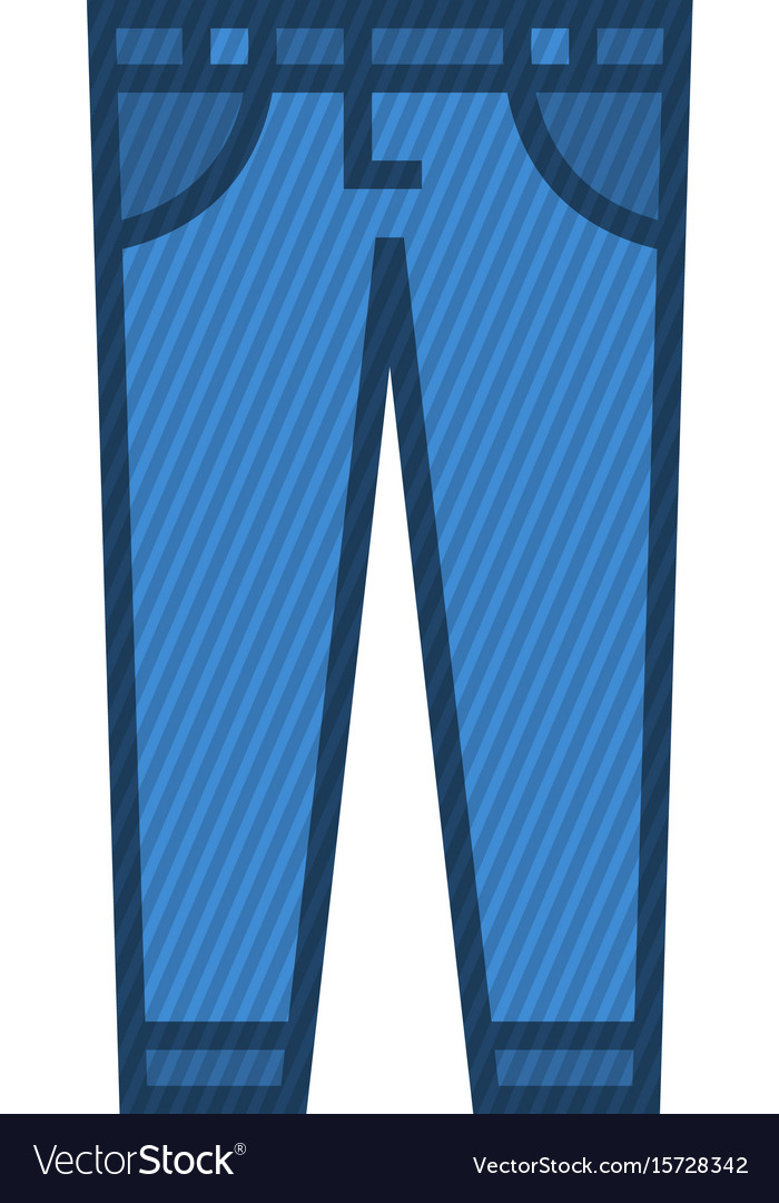 Blue jeans vector image