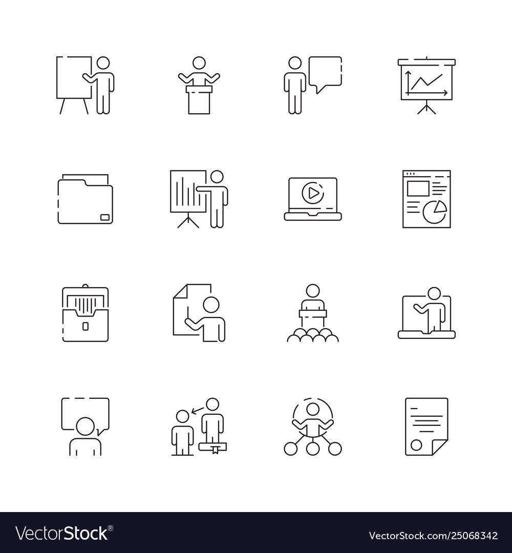 Business presentation icon learning managers