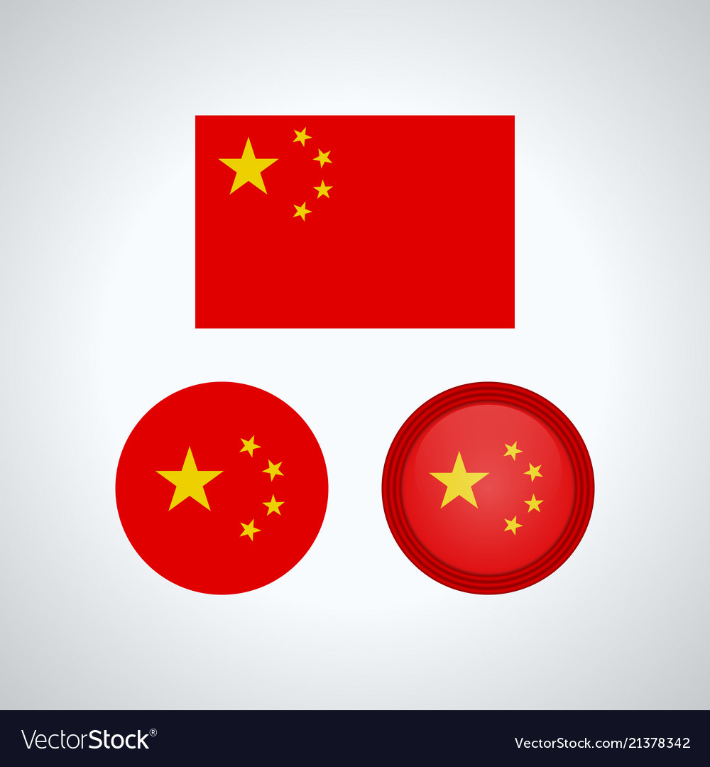 Chinese trio flags