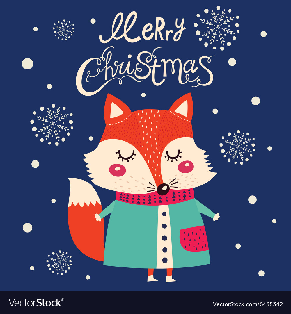 Christmas fox design
