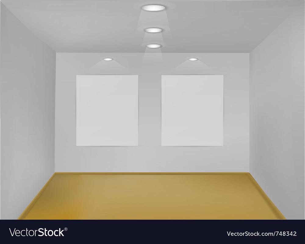Empty gallery room vector image