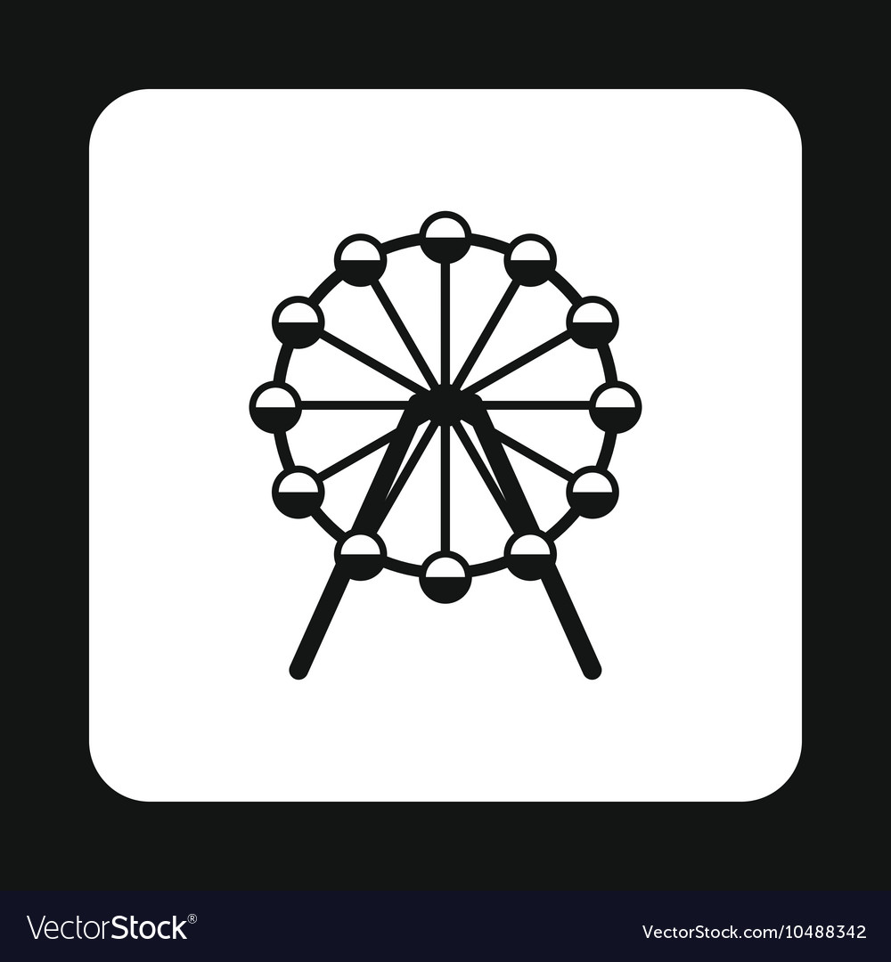 Ferris wheel icon simple style