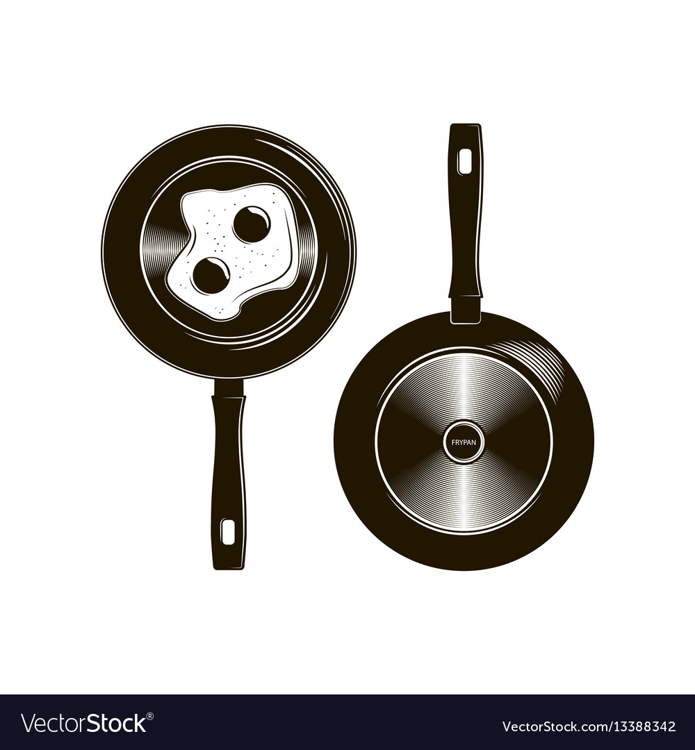 Frying pan with long handle described in