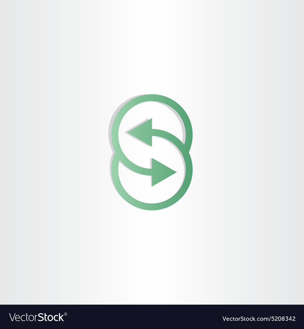 Letter s arrows symbol design