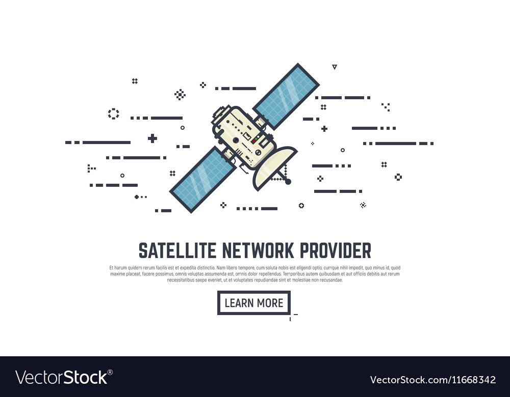 Satelitte line concept