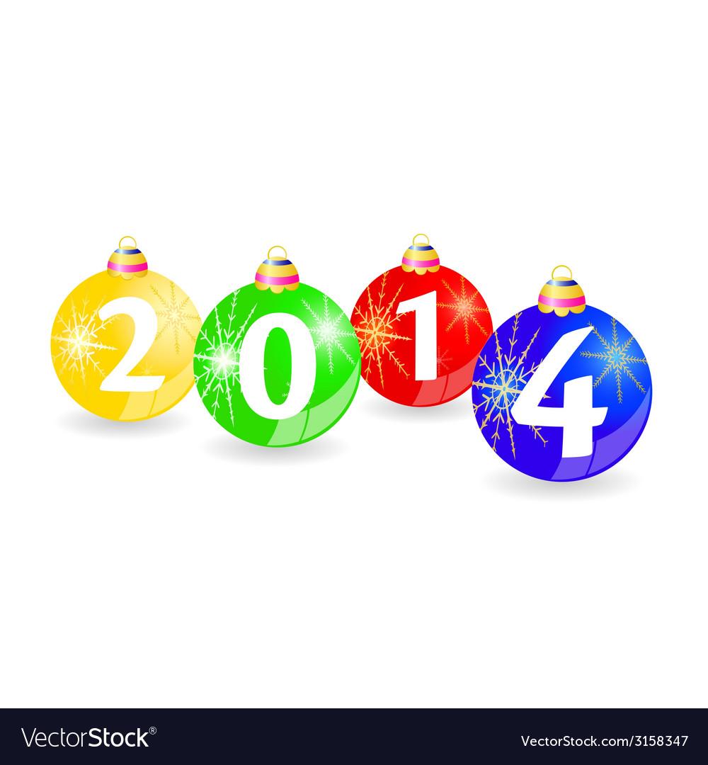 Christmas balls with 2014
