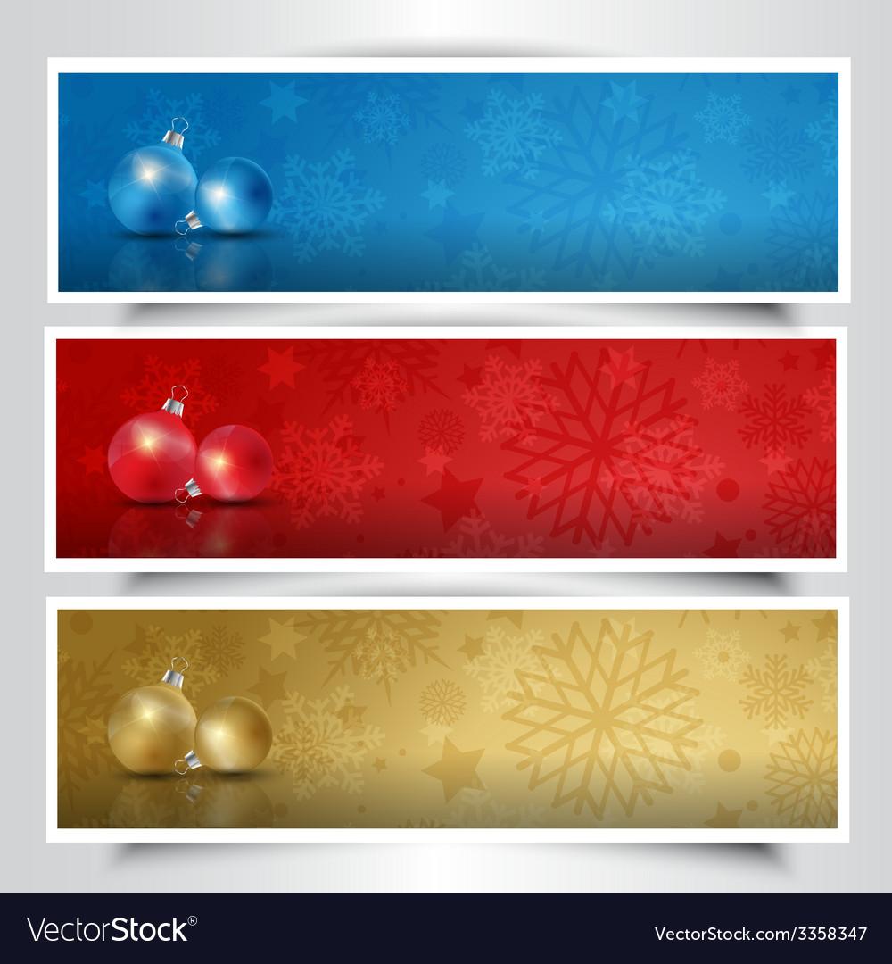 Christmas bauble headers
