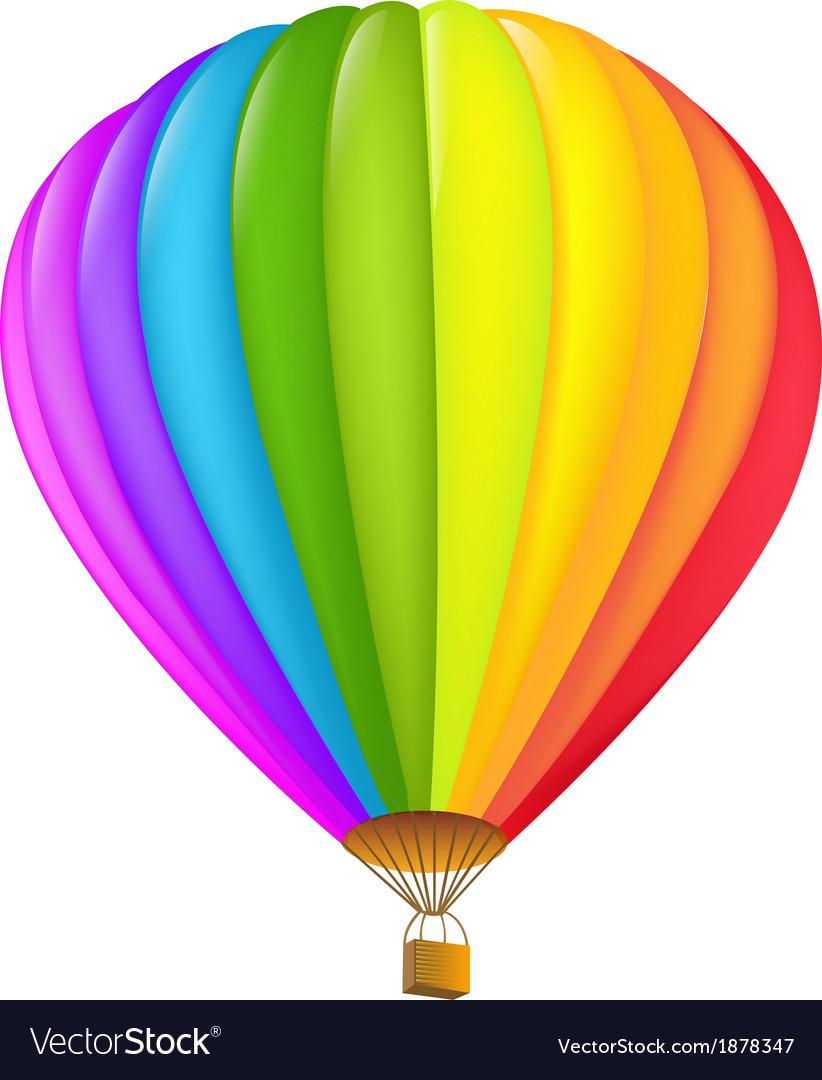 - Colorful Hot Air Balloon Royalty Free Vector Image