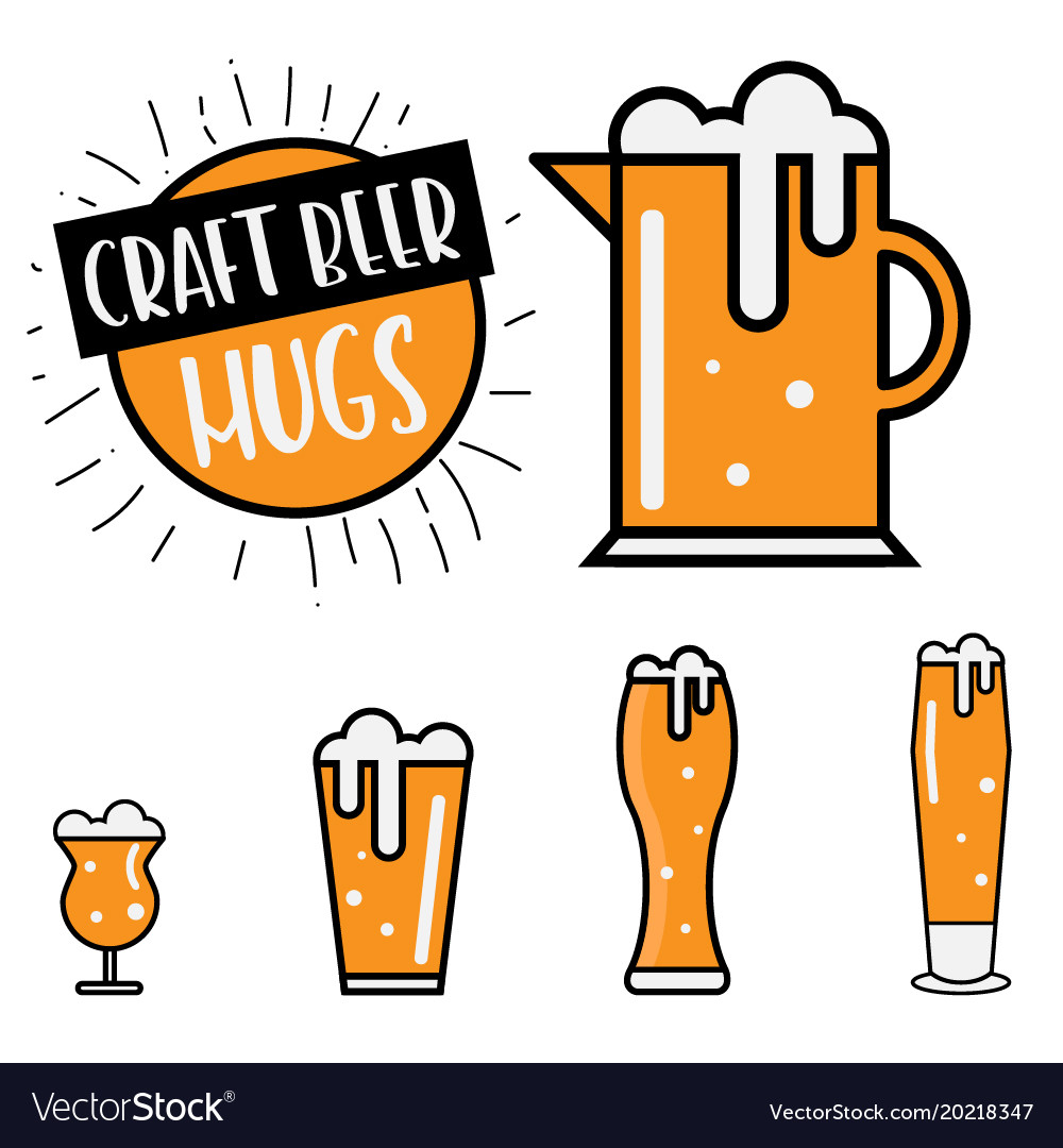 Craft beer mugs